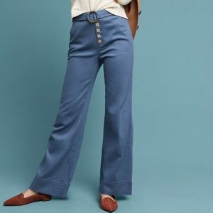 Anthropologie Cassidy Wide Leg Belted Trouser 4